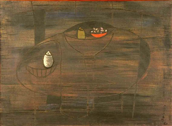 FAROOKH N. CONTRACTOR STILL LIFE OIL ON CANVAS (PAINTING) 63 X 86 CMS 1961