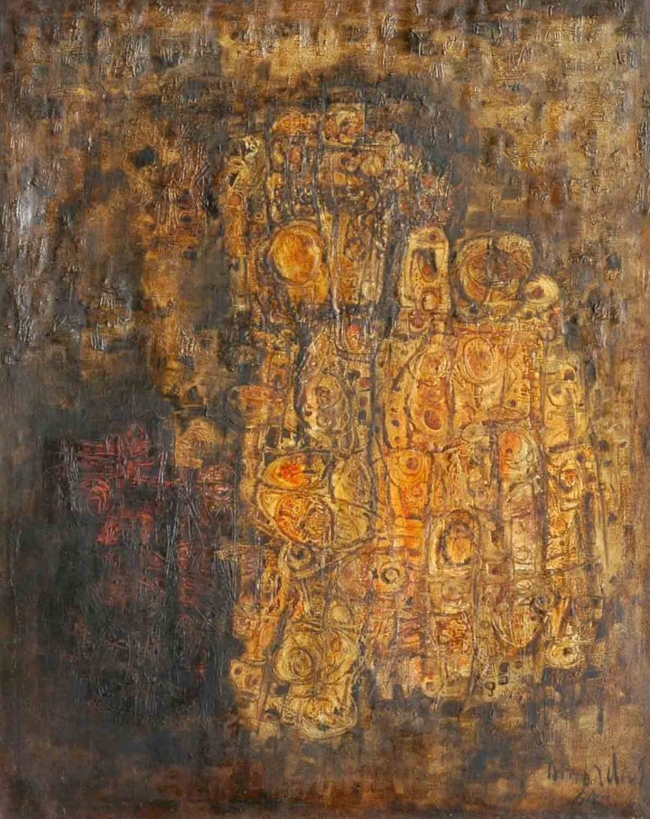 AMBADAS LOST SENTIMENTS OIL ON CANVAS (PAINTING) 121 X 152 CMS 1964