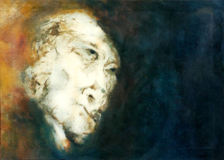HEAD � I by BALDEV RAJ on OIL ON CANVAS (PAINTING)70 X 50 CMS