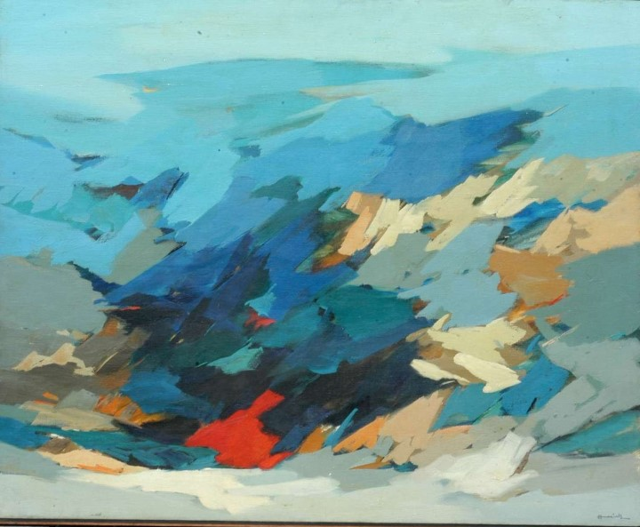 LANDSCAPE by HARISH SRIVASTAV on OIL ON CANVAS (PAINTING)137 X 111 CMS
